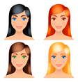 women hair colors vector image