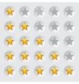 Rating stars in circles vector image
