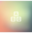 toy cube icon on blurred background vector image