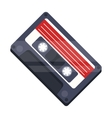 Audio cassette icon in cartoon style isolated on vector image