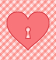 Heart pink vector image