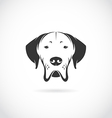 image of dog head vector image