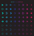 Isolated arrows set undo and previous buttons vector image