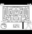 maze activity game with wanderer vector image