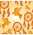 Seamless background with origami vector image