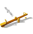 seesaw vector image