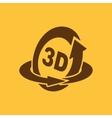 The 3d icon Rotation arrow symbol Flat vector image