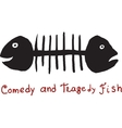 Fish comedy and tragedy vector image vector image
