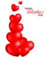 Beautiful Red Hearts Background Design vector image