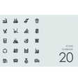 Set of garbage icons vector image