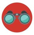 Isolated binocular design vector image
