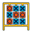 tic tac toe game icon cartoon style vector image