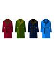 male coat set different color flat design vector image