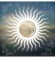 Vintage Sky sun moon clouds stars vector image