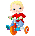 15boy bike001 vector image