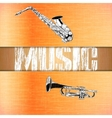 layered background music saxophone and trumpet vector image