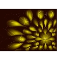 Abstract fractal resembling a flower on vector image