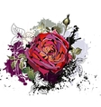 Beautiful grunge background with rose vector image