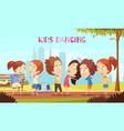 kids dancing vector image