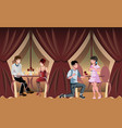 romantic evening in a restaurant or cafe vector image