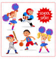 School sport time vector image