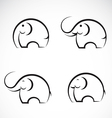 Set of elephant icons vector image