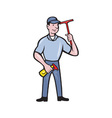 Window Cleaner With Squeegee vector image vector image
