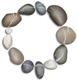 Circle of twelve pebbles vector image
