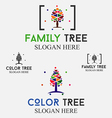 Family Color Tree Logo vector image