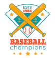 baseball retro poster with blue base vector image vector image