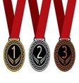 Medalje tri resize vector image