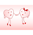 Lovers of the heart vector image vector image