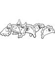 pierogi or dumplings coloring page vector image vector image