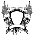 skull board and wings vector image vector image