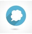 flat speech bubble icon vector image