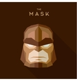 Villain in a brown head mask the style of plane vector image