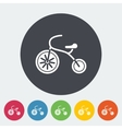 Tricycle flat icon vector image