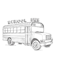 School bus Hand drawn transport sketch vector image