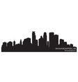 Minneapolis Minnesota skyline Detailed silhouette vector image vector image