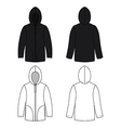 Hoodie black leather sweater vector image vector image