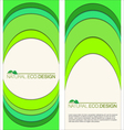 Abstract natural eco labels vector image