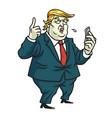 donald trump comments on social media cartoon vector image
