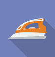 Iron icon Modern Flat style with a long shadow vector image