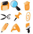 Smooth file operations icons vector image vector image