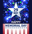 memorial day background with emblem and salute vector image