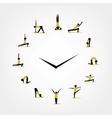 Yoga time watch concept for your design vector image
