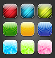 Abstract backgrounds for the app icons vector image vector image