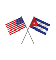 Cuban and American Flags vector image