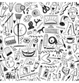 art tools seamless background vector image