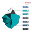 creative business infographics set element vector image
